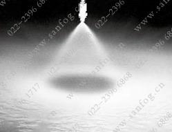 直线式空心圆锥yzc888喷嘴喷雾效果