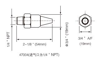 K节气喷嘴尺寸图