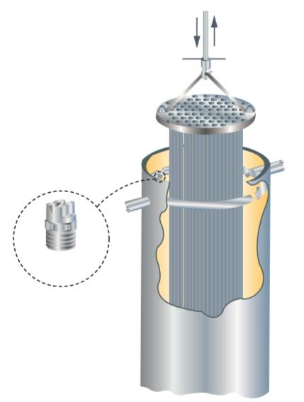 高压扇形清洗yzc888喷嘴应用