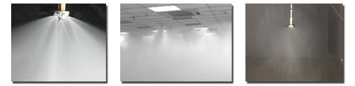 高压细水雾喷嘴喷雾效果
